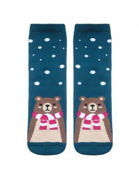 """Moteriškos kojinės """"Bear in Snowflakes"""""""
