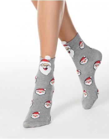 "Women's socks ""Happy Santa"""