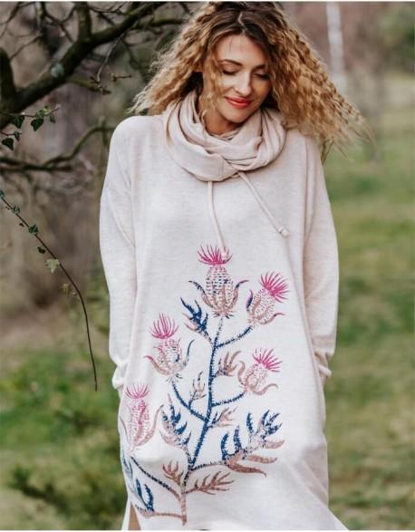 "Pajama ""Beige Flower"""