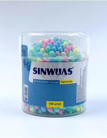 Kosmētiskie vates kociņi SINWUAS 150 gab.