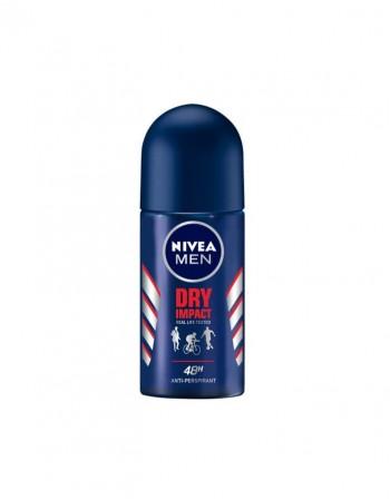 "Dezodorants rullītis - antiperspirants ""Nivea Men Dry Impact"", 50 Ml"