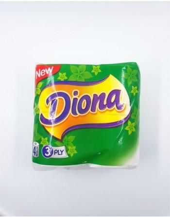 """Tualetinis popierius """"Diona"""", 3 sluoksniai, 4 vnt"""