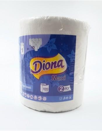 """Popierinis rankšluostis """"Diona"""", 2 sluoksnių, 500 lapų"""