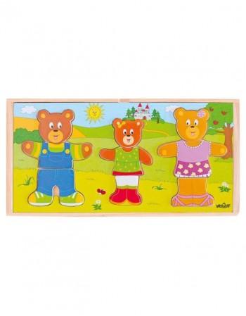 """Medinė dėlionė """"Bear Family"""""""