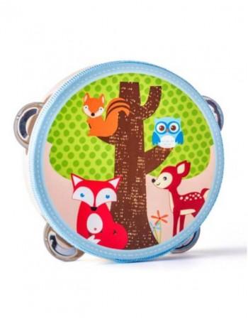 """Medinis vaikiškas muzikinis tamburinas """"Fox"""""""