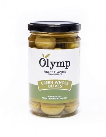 """Žaliosios alyvuogės su kauliukais """"Olymp"""" 300 g"""