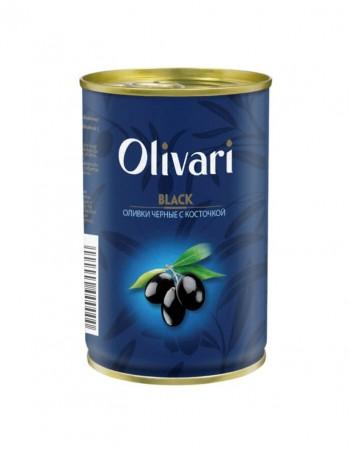 """Juodosios alyvuogės su kauliukais """"Olivari"""" 300g"""