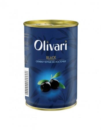 """Melnām olīvas bez kauliņiem """"Olivari"""" 300g"""
