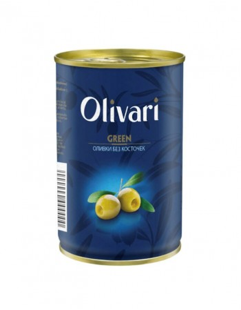 """Green pitted olives """"Olivari"""" 300g"""