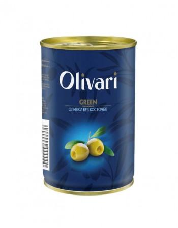 """Žaliosios alyvuogės be kauliukų """"Olivari"""" 300 g"""
