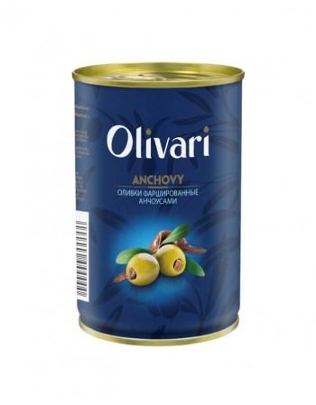 """Alyvuogės įdarytos ančiuviais """"Olivari"""" 300g"""