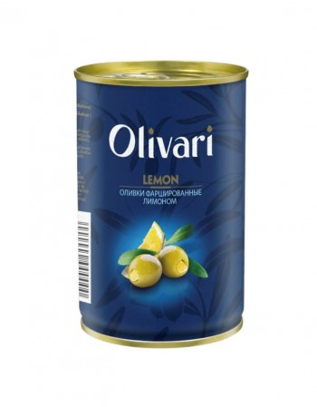 "Alyvuogės įdarytos citrinomis ""Olivari"" 300g"