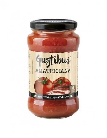 """Pomidorų padažas """"Gustibus"""" Amatriciana, 400g"""