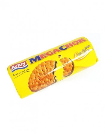 "Chocolate cream flavoured filled biscuits ""Arluy"" Megachok, 180g"