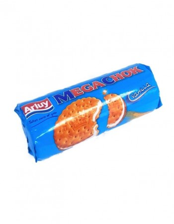 "Vanilla cream flavoured filled biscuits ""Arluy"" Megachok, 180g"