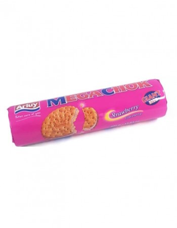 "Strawberry cream flavoured filled biscuits ""Arluy"" Megachok, 500g"
