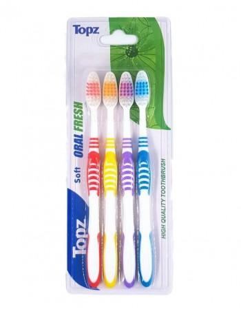 """Зубная щетка """"Topz"""" Soft, 4 шт"""
