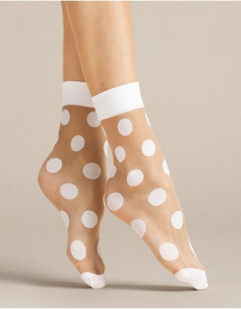 "Women's socks ""Virginia White"" 20 Den"