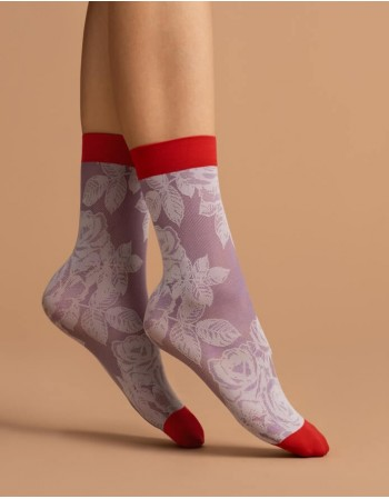 "Women's Socks ""Red Rose"" 40 Den"