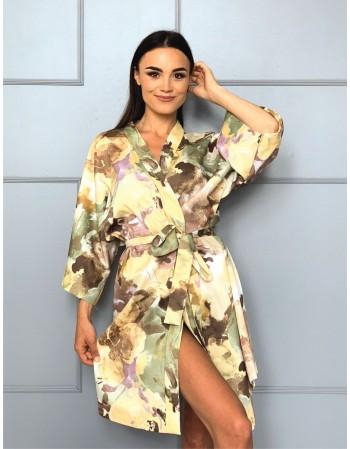 "Kimono from Satin ""Rudens Batika"""
