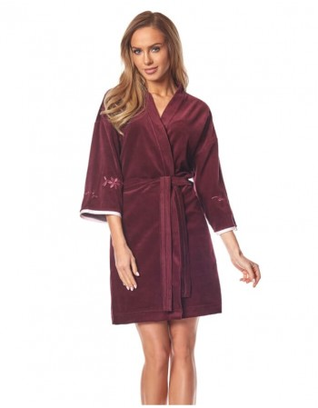 "Bathrobe ""Sheila bordo"""