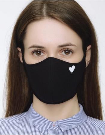 "Face mask ""Heart"""