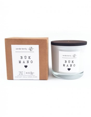 "Soy wax candle ""Būk mano"""