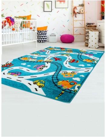 """Vaikiškas kilimas """"Mašinėlės"""""""