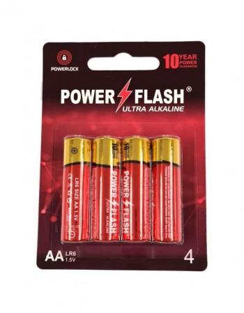 Элементы питания POWER FLASH AA LR6 1.5V