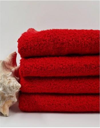 """Šukuotinės medvilnės rankšluostis """"Red Cotton"""""""