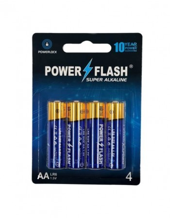 Batteries POWER FLASH Super Alkaline AA LR6 1,5V