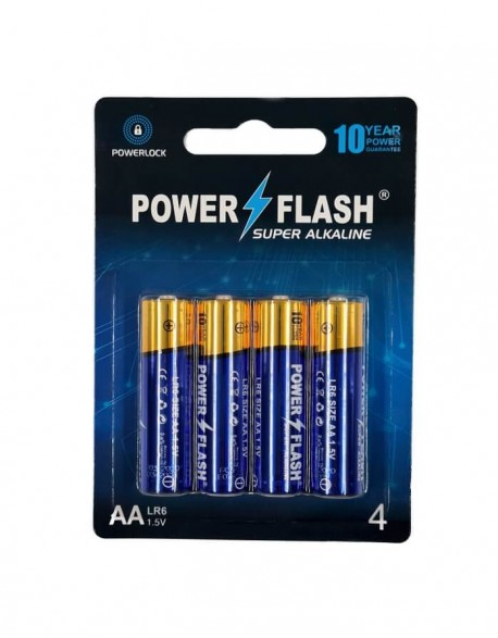 Batteries POWER FLASH Super Alkaline AA LR6 1,5V