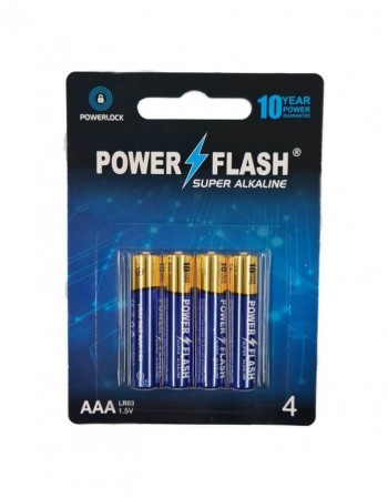 Baterijas POWER FLASH Super Alkaline AAA LR03 1.5V