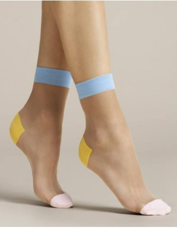 "Moteriškos kojinaitės ""Tricolore Blue"" 20 Den"