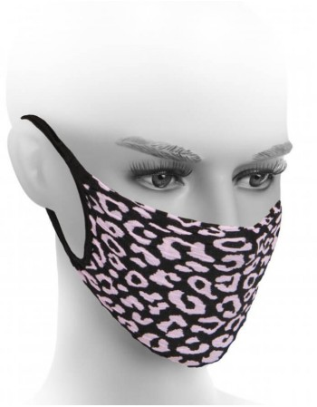 Protective face mask ''Leopard Neon Pink''