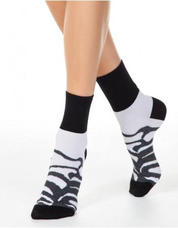 Moteriškos Kojinės ''Zebra Grey''