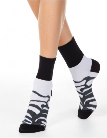Women's socks ''Zebra Grey''