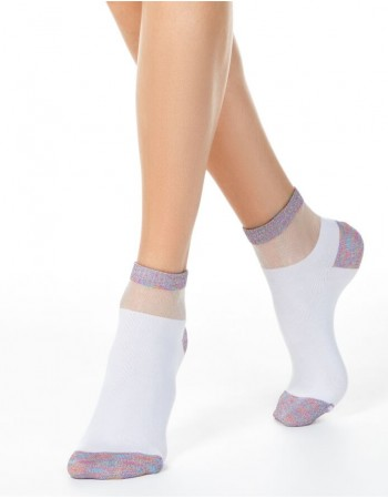 Women's socks ''Shiny White''