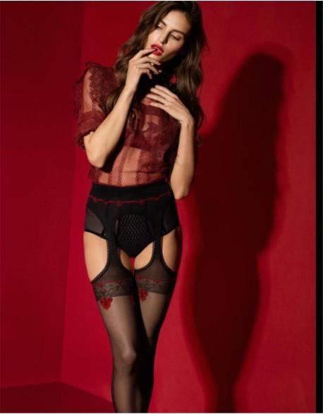 """Kojinės su diržu """"Amour Rouge"""" 20 Den"""