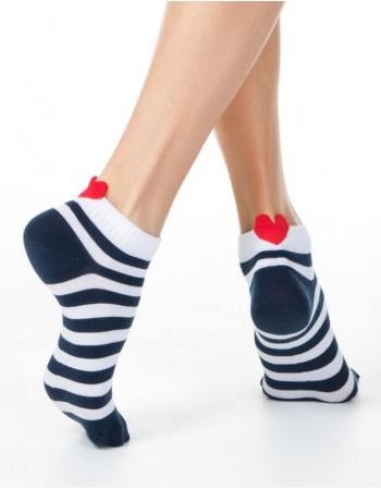"""Moteriškos kojinaitės """"Stripe Heart"""""""