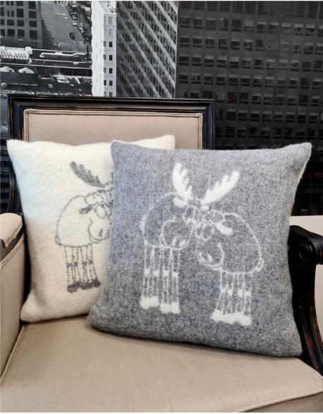 """Подушка из натуральной шерсти """"Elk Grey"""""""