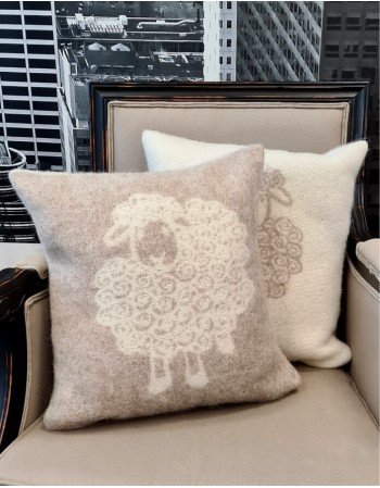 "Natural wool pillow ""Elk Beige"""