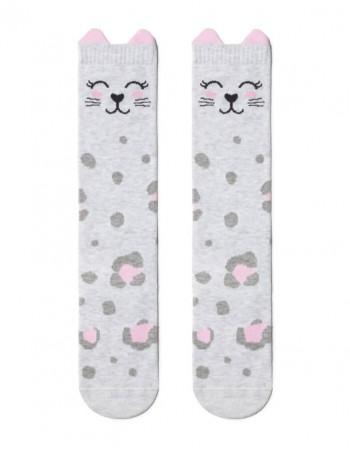 "Children's socks ""Grey Kitty"""