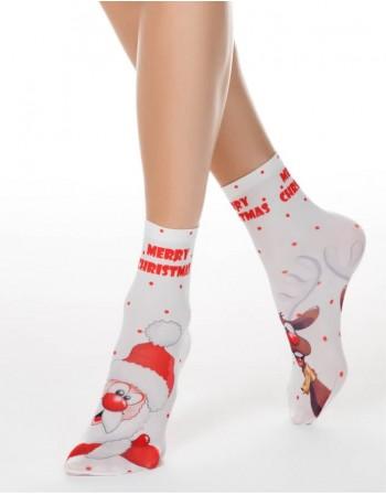 "Women's socks ""Happy Christmas"""