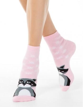 """Moteriškos kojinės """"Pink Racon"""""""