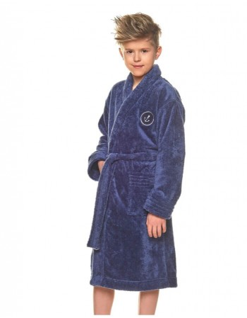 "Bathrobe ""Anchor Navy"""