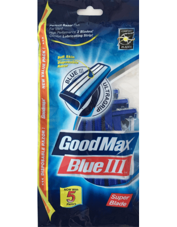 "Ühekordsed meeste pardlid ""GoodMax Blue"" 5tk"