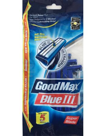 """Vienkartiniai Vyriški Skustuvai """"GoodMax Blue"""" 5vnt."""