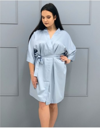 """Kimono satīna audumā """"Migla"""""""