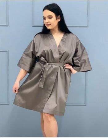 "Kimono from Satin ""Kakavinis rytas"""